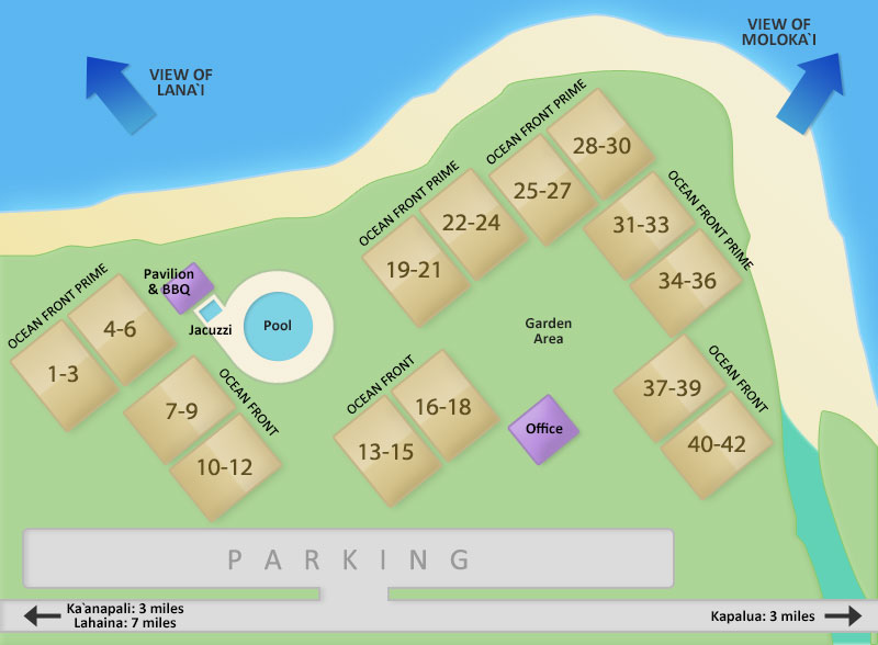 Kahana Village Property Map